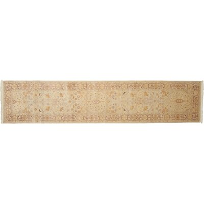 One-of-a-Kind Ottoman Hand-Knotted Beige Area Rug