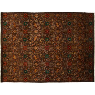 Ottoman Hand-Knotted Brown Area Rug