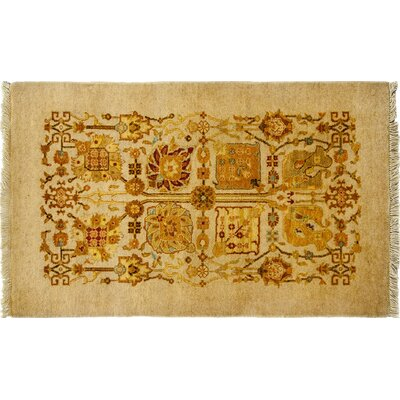 Ottoman Hand-Knotted Beige Area Rug