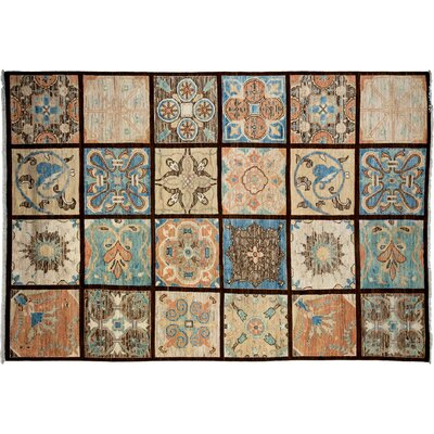 One-of-a-Kind Oushak Hand-Knotted Brown/Blue Area Rug