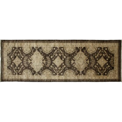 Oushak Hand-Knotted Gray/Brown Area Rug