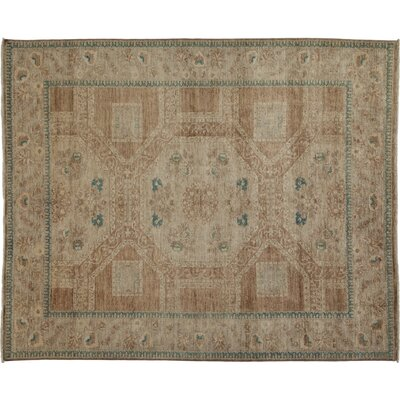 Oushak Hand-Knotted Yellow Area Rug