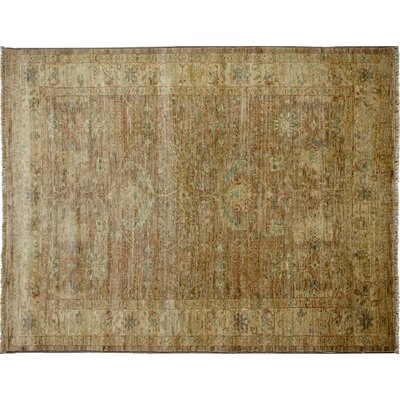 One-of-a-Kind Oushak Hand-Knotted Brown Area Rug