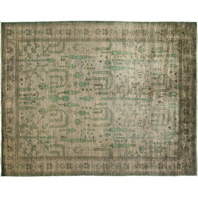Oushak Hand-Knotted Gray Area Rug