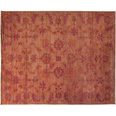 Oushak Hand-Knotted Pink Area Rug