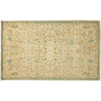 One-of-a-Kind Titouan Oushak Hand-Knotted Ivory Area Rug Rug Size: Rectangle 51 x 82