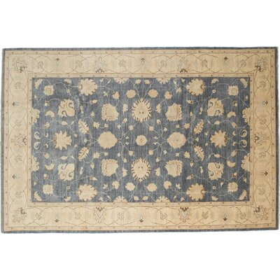 Oushak Hand-Knotted Blue Area Rug