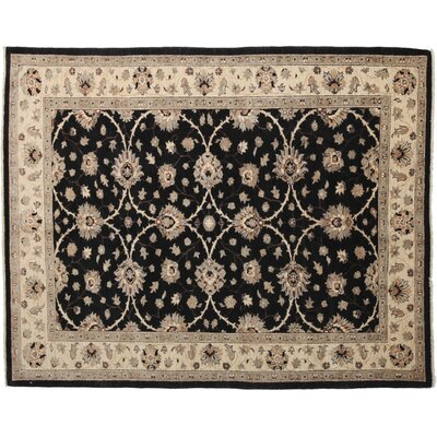 Oushak Hand-Knotted Black Area Rug