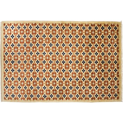 Oushak Hand-Knotted Beige Area Rug
