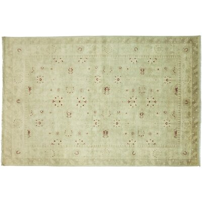 Oushak Hand-Knotted Green Area Rug