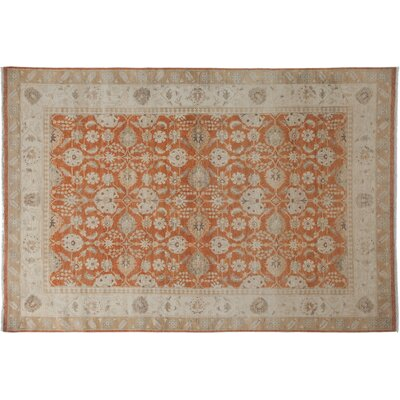 Oushak Hand-Knotted Orange Area Rug