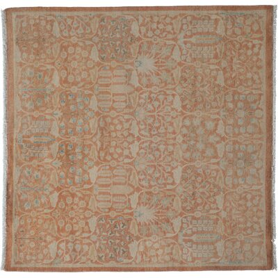 One-of-a-Kind Oushak Hand-Knotted Orange Area Rug