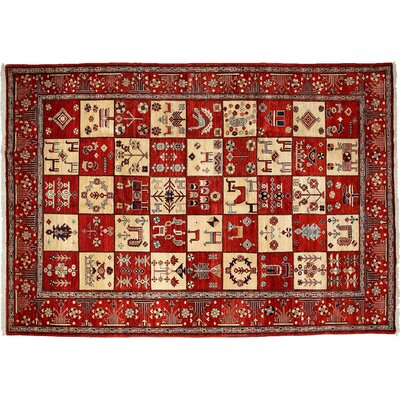 One-of-a-Kind Oushak Hand-Knotted Red Area Rug