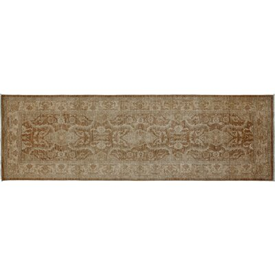 Oushak Hand-Knotted Brown Area Rug