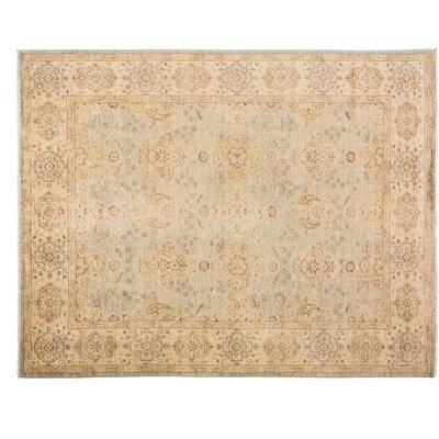 One-of-a-Kind Oushak Hand-Knotted Gray/Beige Area Rug
