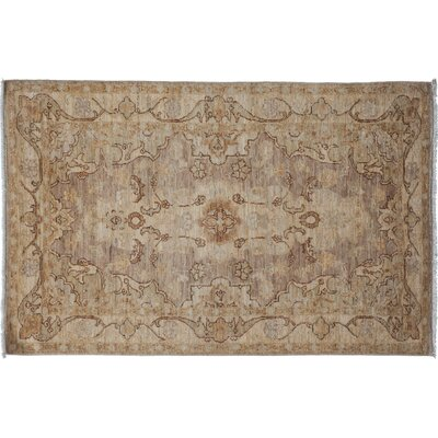 One-of-a-Kind Oushak Hand-Knotted Beige Area Rug Rug Size: Rectangle 31 x 5