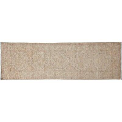 Oushak Hand-Knotted Ivory Area Rug