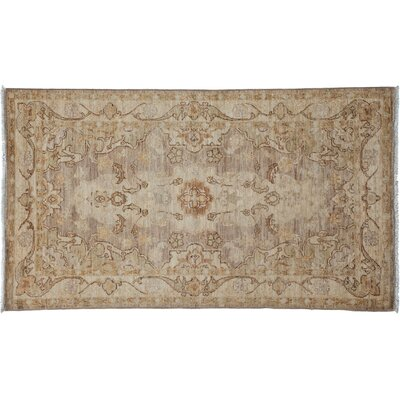 One-of-a-Kind Oushak Hand-Knotted Beige Area Rug Rug Size: Rectangle 210 x 52
