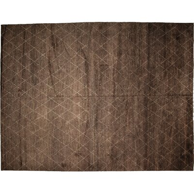 Rabat Hand-Knotted Brown Area Rug