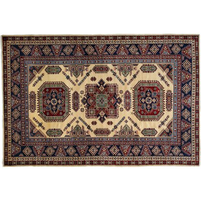 Shirvan Hand-Knotted Ivory/Blue Area Rug