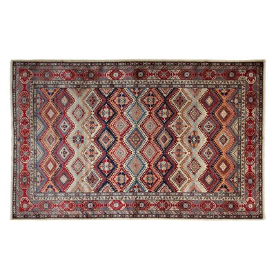 One-of-a-Kind Shirvan Hand-Knotted Blue/Red Area Rug