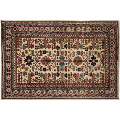 Shirvan Hand-Knotted Ivory/Red Area Rug