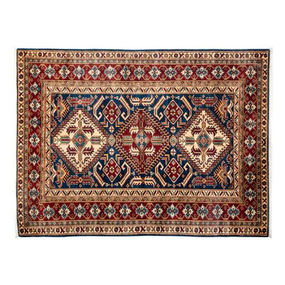 Shirvan Hand-Knotted Red Area Rug