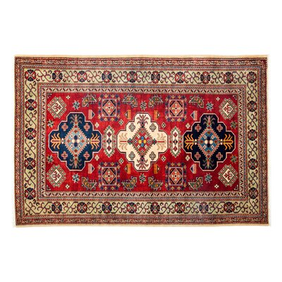 One-of-a-Kind Shirvan Hand-Knotted Red Area Rug Rug Size: Rectangle 43 x 61