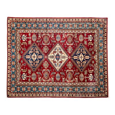 One-of-a-Kind Shirvan Hand-Knotted Red Area Rug