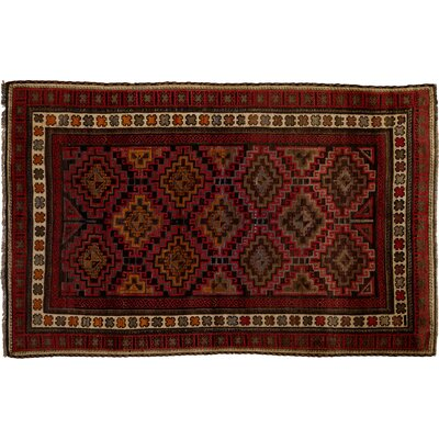 One-of-a-Kind Tribal Hand-Knotted Red Area Rug