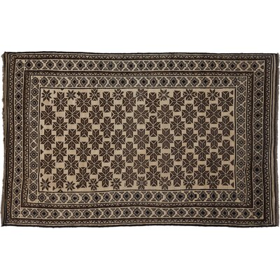 Tribal Hand-Knotted Ivory Area Rug