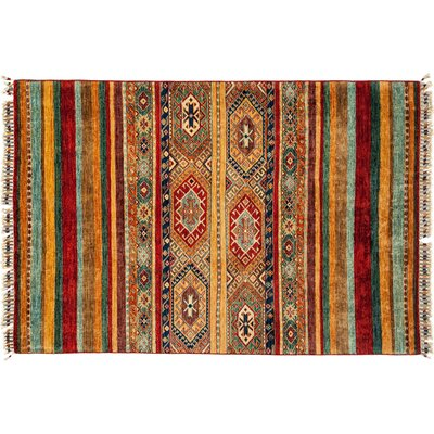 Tribal Hand-Knotted Yellow/Green Area Rug