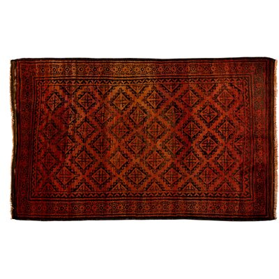 Tribal Hand-Knotted Orange Area Rug