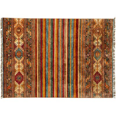 Tribal Hand-Knotted Yellow Area Rug