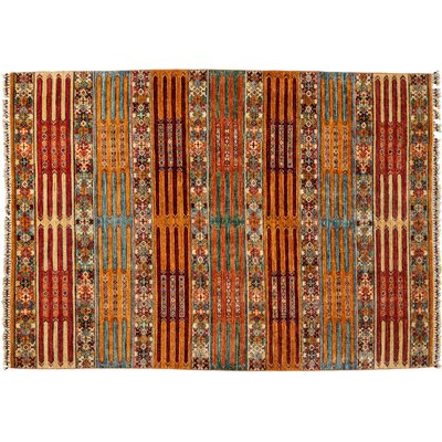 One-of-a-Kind Tribal Hand-Knotted Yellow Area Rug