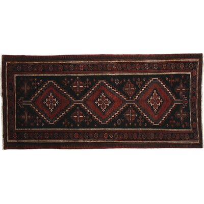 Afshar Hand-Knotted Red Area Rug