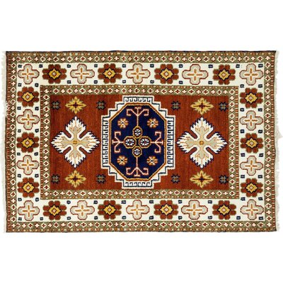 One-of-a-Kind Ardabil Hand-Knotted Orange Area Rug
