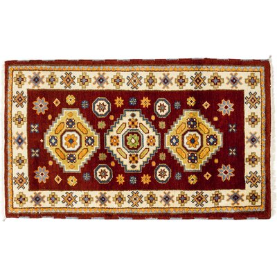 One-of-a-Kind Ardabil Hand-Knotted Red Area Rug