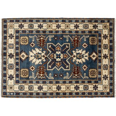 Ardabil Hand-Knotted Blue Area Rug