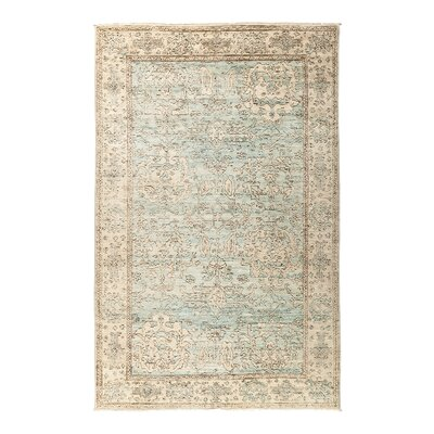 One-of-a-Kind Anatollia Hand-Knotted Blue/Beige Area Rug