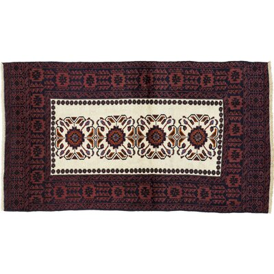 One-of-a-Kind Balouch Hand-Knotted Red Area Rug