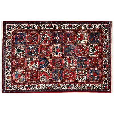 One-of-a-Kind Bakhtiari Hand-Knotted Red Area Rug