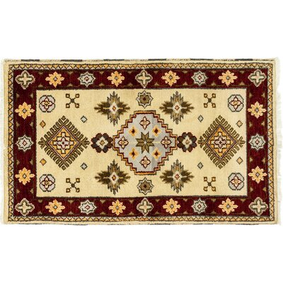 One-of-a-Kind Ardabil Hand-Knotted Beige Area Rug