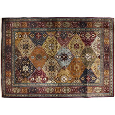 Bakhtiari Hand-Knotted Multicolor Area Rug
