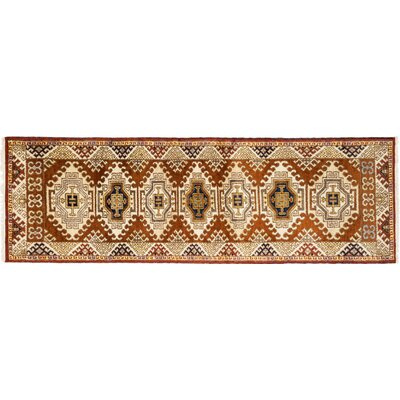 Ardabil Hand-Knotted Brown Area Rug