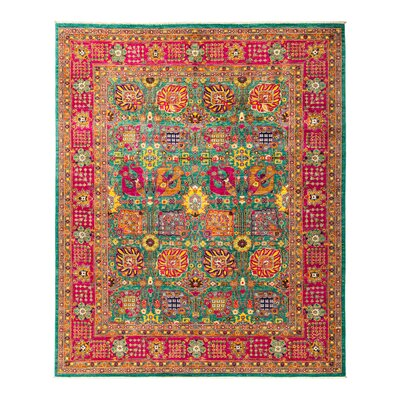 Eclectic Vivid Hand-Knotted Multicolor Area Rug