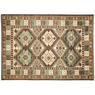 One-of-a-Kind Ersari Hand-Knotted Green Area Rug Rug Size: Rectangle 6 x 84