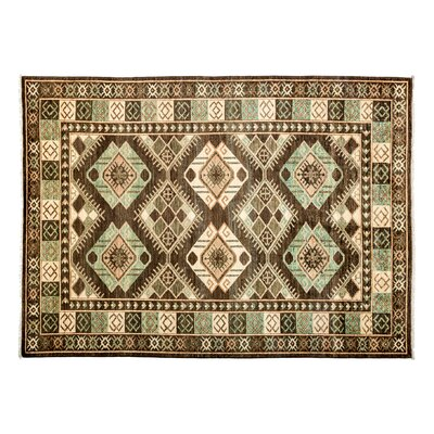 One-of-a-Kind Ersari Hand-Knotted Green Area Rug Rug Size: Rectangle 63 x 87