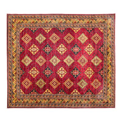 One-of-a-Kind Ersari Hand-Knotted Pink Area Rug