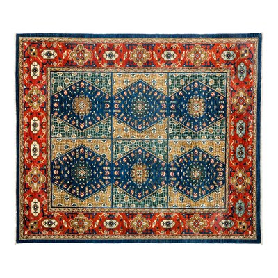 One-of-a-Kind Ersari Hand-Knotted Blue Area Rug